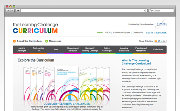 Focus Education, Learning Challenge Curriculum<br />Website Build - image 2