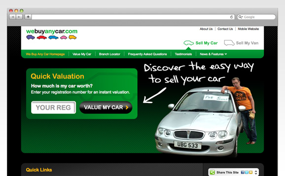 webuyanycar.com, Website Re-design - image 2