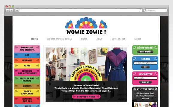 Wowie Zowie, Website Design and Build - image 2